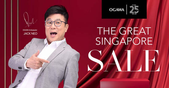 Featured image for Ogawa Great Singapore Sale Promotion from 21 June 2021