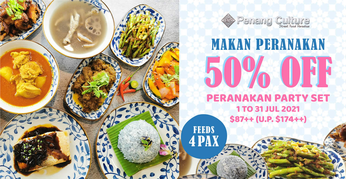 Featured image for Penang Culture is offering 50% off Peranakan Party Set in-stores and delivery from 1 - 31 July 2021