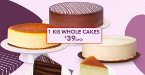 The Coffee Bean & Tea Leaf S'pore is offering $39 1kg whole cakes (From 16 June 2021)