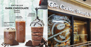 The Coffee Bean & Tea Leaf S'pore is offering Dark Chocolate beverages from 18 June 2021