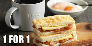 Featured image for Toast Box: 1-for-1 Traditional Toast Set with UOB Mighty payments from 2 – 31 July 2021