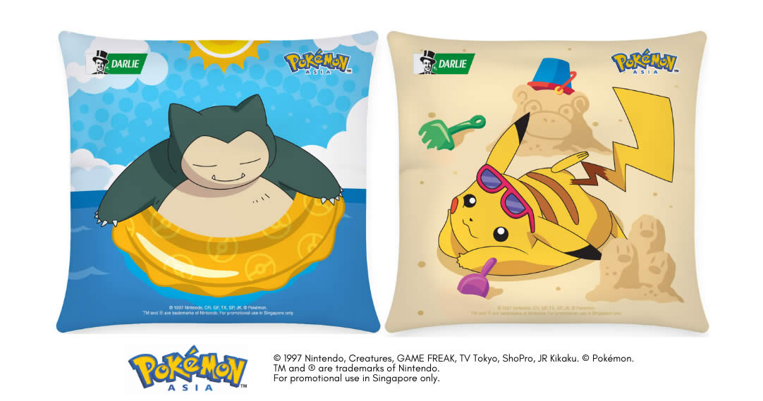 Featured image for Darlie: Free Pokémon Cushion with $25* worth of Darlie products purchase till 31 August 2021