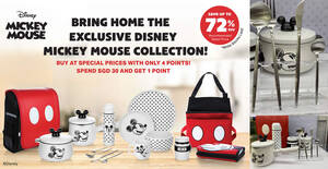 Fairprice: Spend & redeem exclusive Disney Mickey Mouse collection at up to 72% off till 17 Nov 2021