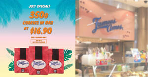 Featured image for Famous Amos S'pore is offering 350g cookies in bag for $16.90 till 31 July 2021