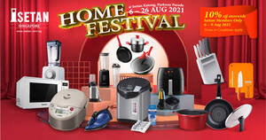 Isetan Home Festival Sale at Katong, Parkway Parade Mall, L2 from 6 – 26 Aug 2021
