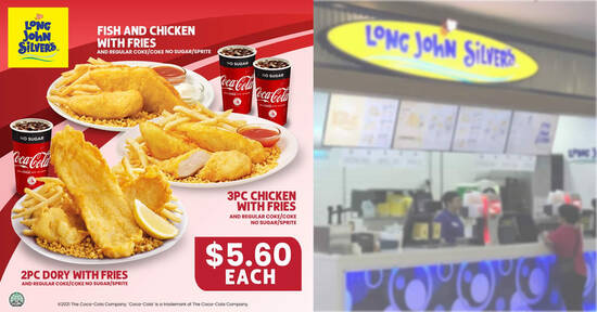 Featured image for Long John Silver's S'pore: 2pc Dory with fries + regular drink at $5.60 & more NDP2021 ecoupons till 30 Sep 2021