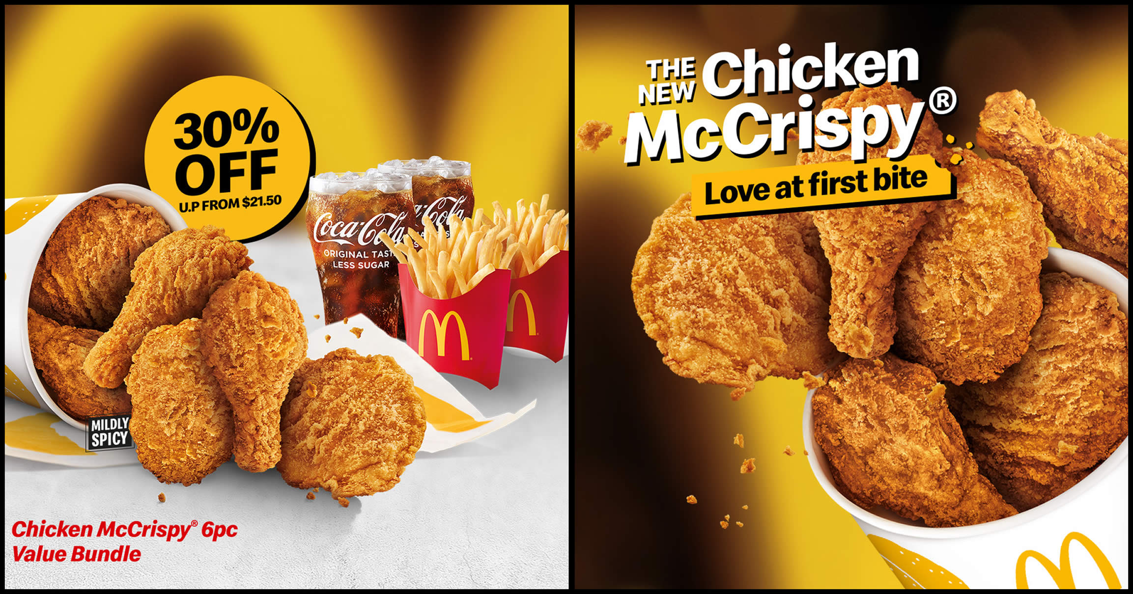 Featured image for McDonald's S'pore: 30% off Chicken McCrispy® 6pc Value Bundle on 6 July 2021