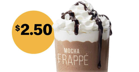 Featured image for McDonald's S'pore is offering $2.50 Frappe (Mocha or Caramel) on 1 Oct 2021, 3pm - 6pm