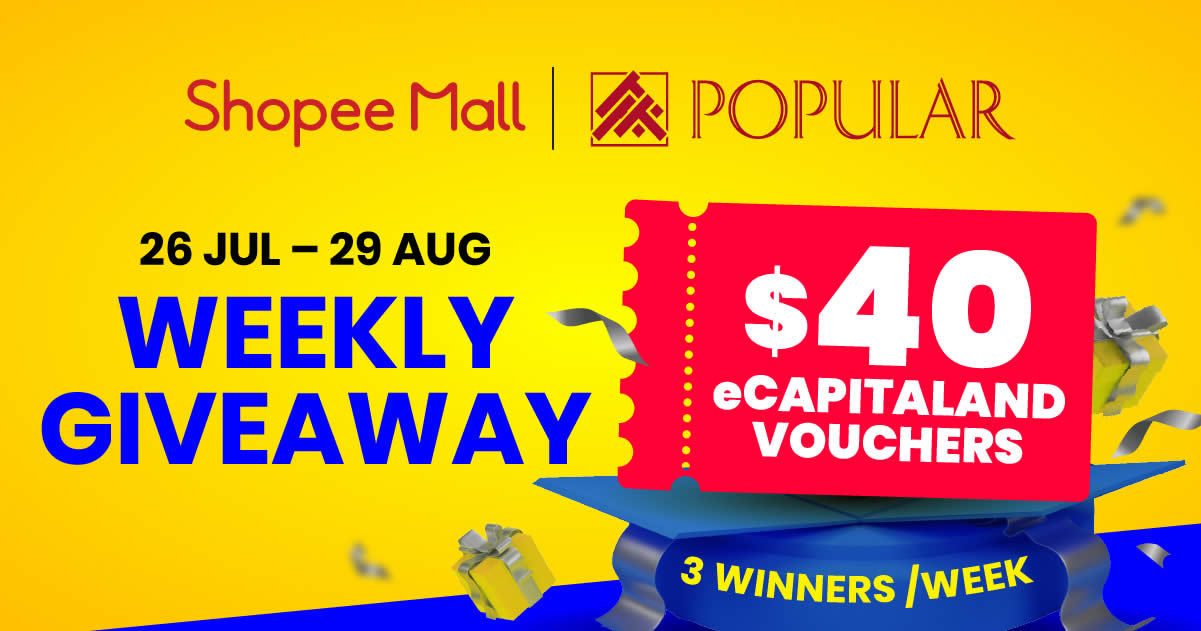 Featured image for POPULAR Official Store on Shopee: Register your chance now and get additional $8 worth of discount vouchers!