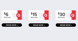 Qoo10: Super Sale – grab $6, $15 & $30 cart coupons daily on 1 Aug 2021