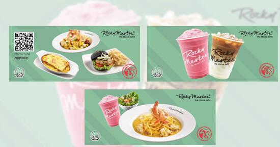 Featured image for Rocky Master: 1 for 1 on all regular-sized beverages & more NDP 2021 ecoupons valid till 30 Sep 2021