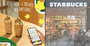 Starbucks S'pore: Enjoy all-day 1-for-1 treat on selected beverages with Mobile Order & Pay from 2 – 6 Aug 2021