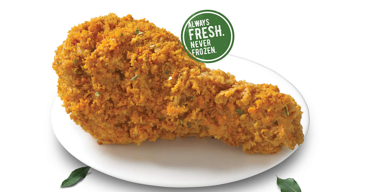 Featured image for Texas Chicken S'pore brings back fan favourite Salted Egg Fried Chicken from 29 Jul - 8 Sep 2021