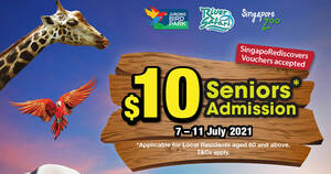 Featured image for Wildlife Parks 7.7 Special: $10 Seniors Admission from 7 – 11 July 2021