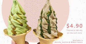 Featured image for 108 Matcha Saro is offering 1-for-1 softserves at only $4.90 till 26 Aug 2021