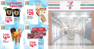 Featured image for 7-Eleven is offering 1-for-1 Magnum Ruby, $2.20 Cornetto & more ice cream deals till 17 Aug 2021