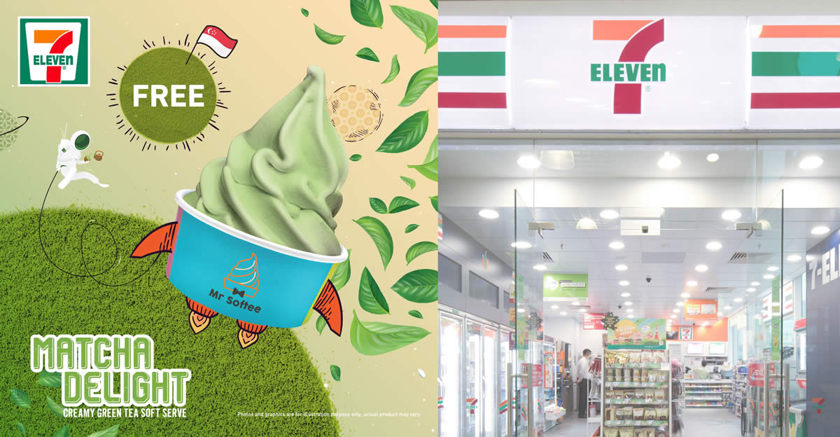 Featured image for 7-Eleven S'pore is giving away free Matcha Mr Softee (No purchase required) from 9 - 17 Aug 2021
