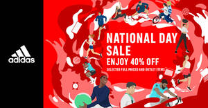 Featured image for Adidas S'pore is having a 40% off selected items online National Day sale till 9 August 2021