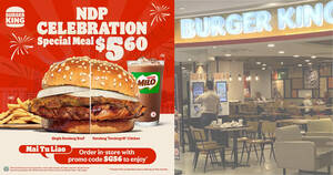 Featured image for Burger King S'pore: $5.60 (usual $7.90) Single Rendang / Rendang Tendergrill Chicken burger value meal till 22 Aug 2021