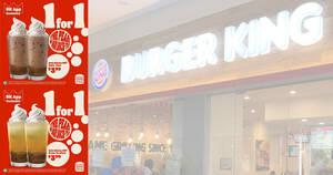 Featured image for Burger King S'pore: 1-for-1 Gula Melaka BBT coupon deals valid till 23 August 2021