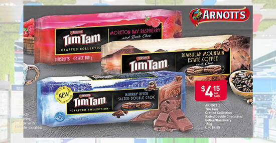 Featured image for New Arnott's Tim Tam flavours at Fairprice: Salted Double Chocolate, Coffee, Raspberry, Chewy Caramel, Choc Mint & more