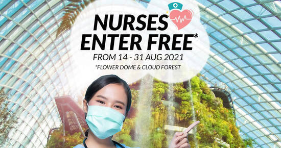 Featured image for Gardens by the Bay: Nurses enter for FREE from 14 - 31 Aug 2021