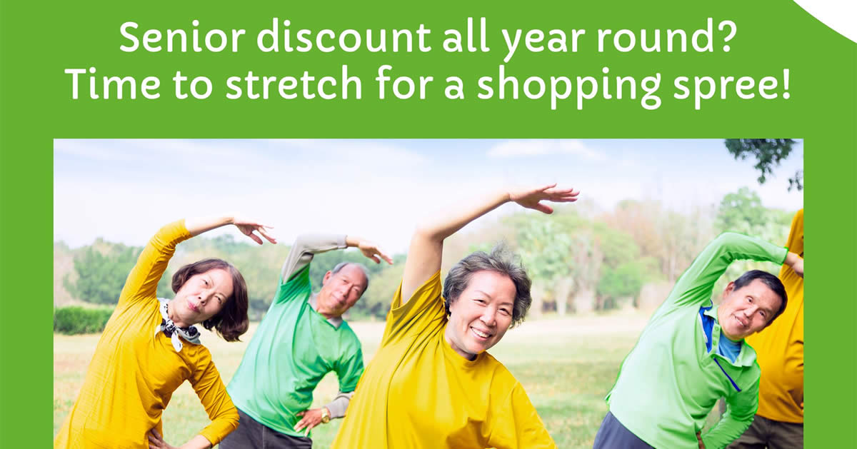 Featured image for Giant Singapore extends 3% storewide weekday senior citizen discount to till 31 Dec 2021
