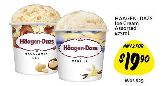 Featured image for Giant is offering Haagen-Dazs at 2-for-$19.90 (U.P. $29), $10.90 Kinder Bueno & more till 11 Aug 2021