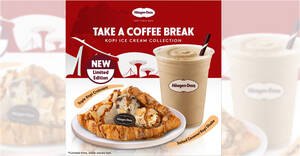 Featured image for Haagen-Dazs S'pore Cafe: Grab the Triple Kopi Croissant and Salted Caramel Coffee Shake at $5.60 each till 31 Aug 2021