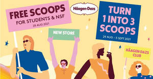 Featured image for Haagen-Dazs is giving away free scoops (no min spend) for students and NSFs at their new SOTA outlet on 28 Aug 2021