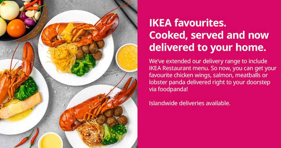 Featured image for IKEA Restaurant S'pore now delivers islandwide via Foodpanda from August 2021