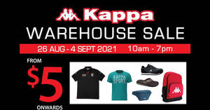 Featured image for Kappa Warehouse Sale Has Items Priced From $5 Onwards (26 Aug – 4 Sep 2021)