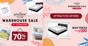 Featured image for King Koil annual warehouse sale returns from 2 – 12 Sep 2021