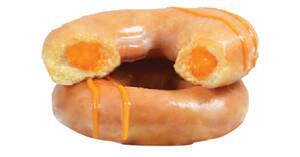 Featured image for Krispy Kreme S'pore brings back Salted Egg Lava Original Glazed doughnuts till 30 Sept 2021