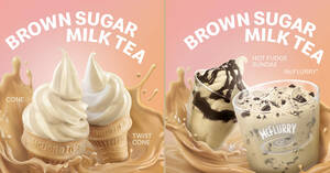 Featured image for McDonald's S'pore launches new Brown Sugar Milk Tea desserts from 16 Aug 2021