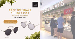 Featured image for OWNDAYS: Free pair of sunglasses (worth $78) with min spend of $68 at Raffles City store till 29 August 2021