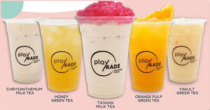 Featured image for Playmade by 丸作 is offering 1-for-1 selected beverages at Jurong Point from 23 – 25 Aug 2021