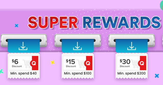 Featured image for Qoo10: Super Sale - grab $6, $15 & $30 cart coupons daily till 29 Aug 2021