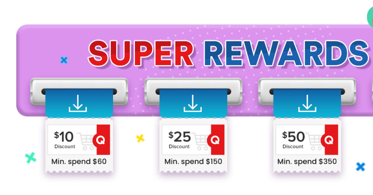 Featured image for Qoo10: Super Sale - grab $10, $25 & $50 cart coupons daily till 29 Aug 2021