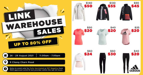 Featured image for Redhill LINK outlet store warehouse sale has up to 80% off Adidas, Puma, New Balance and more (26 - 29 Aug)