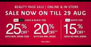 Featured image for Sephora's Beauty Pass Sale – up to 25% OFF! From 25 – 29 Aug 2021