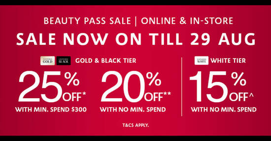 Featured image for Sephora's Beauty Pass Sale - up to 25% OFF! From 25 - 29 Aug 2021