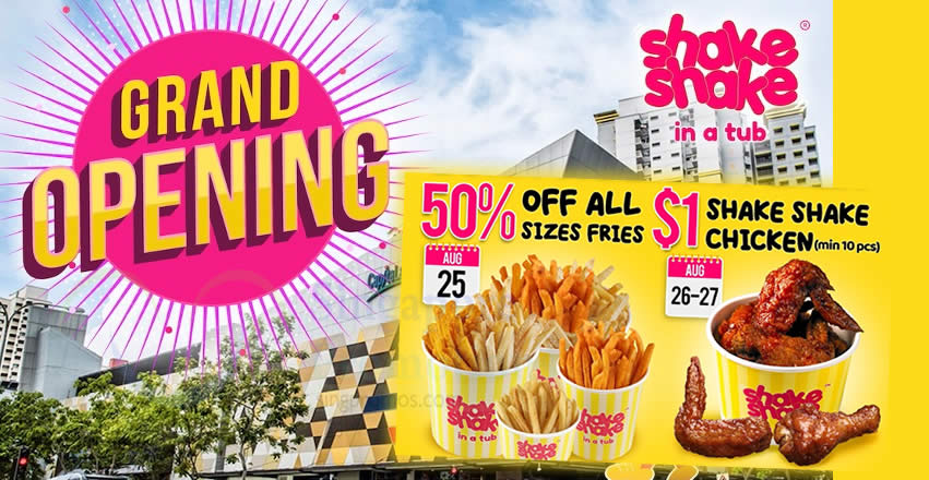 Featured image for Shake Shake In A Tub is opening their 9th outlet at Bukit Panjang Plaza on 25th August with a bang