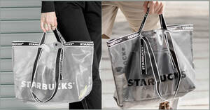 Featured image for Starbucks selling new semi-transparent tote and sling bags at S'pore stores from 30 Aug 2021