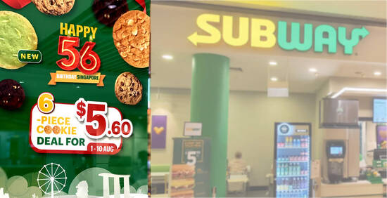 Featured image for Subway S'pore: $5.60 for 6pc cookies deal till 10 August 2021