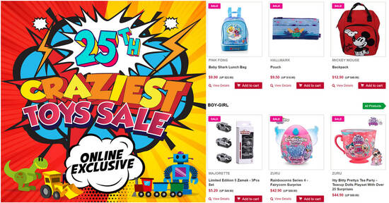 Featured image for Takashimaya Craziest Toys Sale offers discounts of up to 70% off till 29 Aug 2021