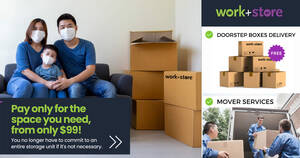 Featured image for Work+Store is offering Storage Space & Logistic Mover Service from just $99/month