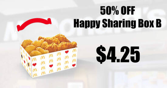 Featured image for Save 50% off Happy Sharing Box® B via McDelivery S'pore till 12 Sep 2021