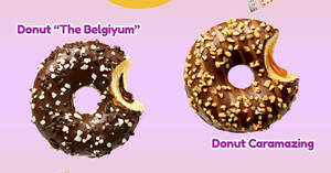 Featured image for 7-Eleven S'pore is now selling doughnuts with chocolate filling and nutty caramel filling (From 30 Sep 2021)