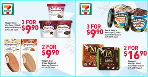 Featured image for 7-Eleven S'pore latest ice cream deals: Magnum, Wall's Ovaltine Stick, Haagen-Dazs, Ben & Jerry's till 14 Sep 2021